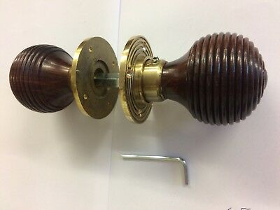 Rosewood Beehive door handle,Victorian Vintage antique Style beehive DOOR Knobs