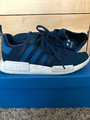 959ca39385502 Adidas NMD R1 Blue-White S31502 Size 11.5 for Men