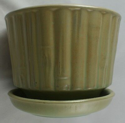 McCoy Pottery Bamboo Look Planter