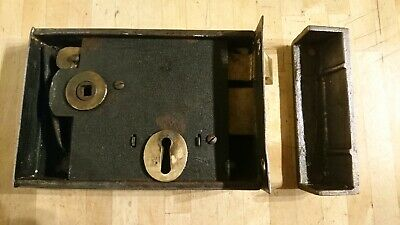 Extra Large Antique / Vintage Rim Lock - Door Lock With Keep