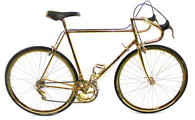 Vintage RACE BIKE CINELLI SUPERCORSA 80S CAMPAGNOLO CRECORD PANTO GOLD PLATED