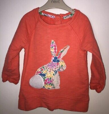 Girls Age 9-12 Months - Next Bunny Long Sleeved Top - Great For Easter