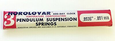 HOROLOVAR 400 DAY CLOCK TEMPERATURE COMPENSATING SUSPENSION SPRING WIRE .091mm.