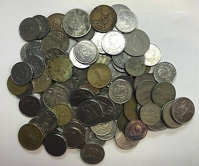 97 Mixed Worldwide Coins - Circulated & Uncirculated - Nice Old Coins