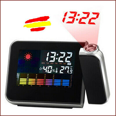 RELOJ DESPERTADOR Digital LED Color  Termometro Proyector LCD Color Alarma