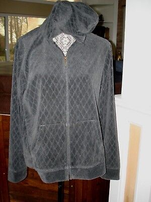 bc7e31dc1a72 Ladies Hooded Jacket by Croft   Barrow Size Large ~Gray ~Soft   Warm zip