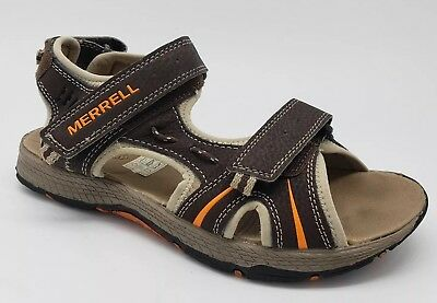 020354281bcf Merrell Panther Water Sandals Boys Brown and Sand US 5 EU 36 Adjustable EUC