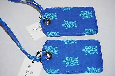 Vera Bradley Luggage Tags MARINE TURTLES NWT COMBO SET OF TWO