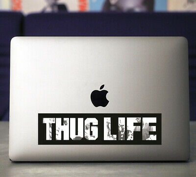 Thug Life UV Coated Vinyl Sticker~Tupac~West Coast Rap~90's Rap~Gangsta Rap