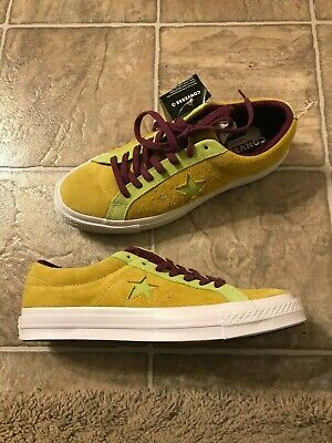 4797cf38d9f3e4 CONVERSE ONE STAR Pinstripe Ox Mens Multi Size Mint Green Lime ...