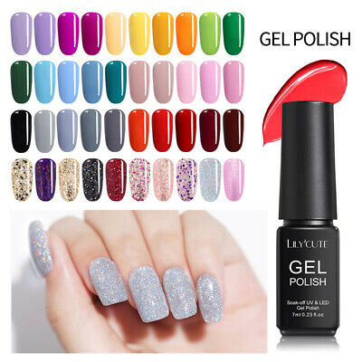 146Colors Soak Off UV Gel Polish Base Top Coat  Varnish DIY LILYCUTE 7ml