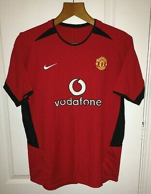 2002/2004 Nike Manchester United Home Shirt Jersey *XS Mens* Man Utd Retro Red