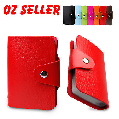 RFID Blocking Leather Business ID 48 Credit Card Holder Men Women Silm Wallet