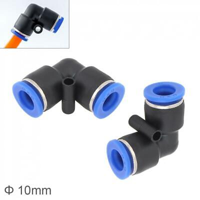 Power Tools Tools 2pcs 8mm L Shaped Elbow Plastic Two-way Pneumatic Quick Connector Pneumatic Insertion Air Tube For Air Tool Quick Fitting High Quality Materials