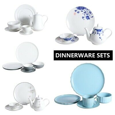 Dinner Sets Home Kitchen Deco Tableware Dinner Plates Bowls Coffee Cup Teapots