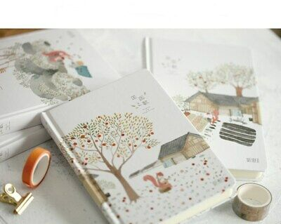 NEW! A5 Fresh Pattern Color Page Hardcover Student Notebook Diary Travel Journal