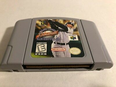 47f1bcdf27 MAJOR LEAGUE BASEBALL KEN GRIFFEY JR Nintendo 64 N64 game US NTSC ...
