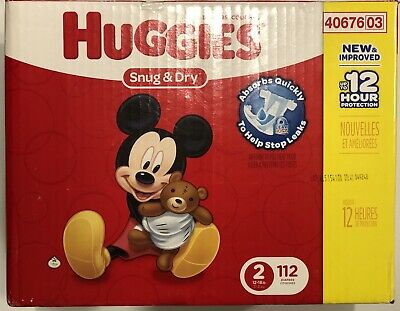 Huggies Snug And Dry Size 2 112 Diapers