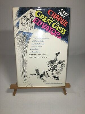 Charlie and the Great Glass Elevator, Roald Dahl, DJ, 1st Edition Stated  Wonka