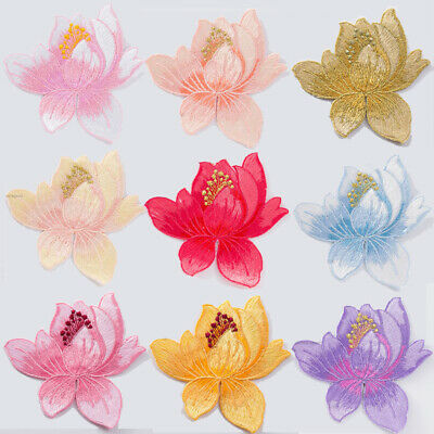 3D Embroidery Flower Sew Iron On Patch DIY Badge Clothes Fabric Applique New