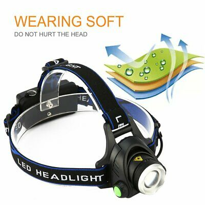 T6 900LM LED Rechargeable Headlight Headlamp Flashlight 2 Charger 1 USB CableG&