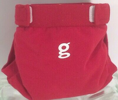 Gdiapers Small Good Fortune Red Gpants & Pouch Euc