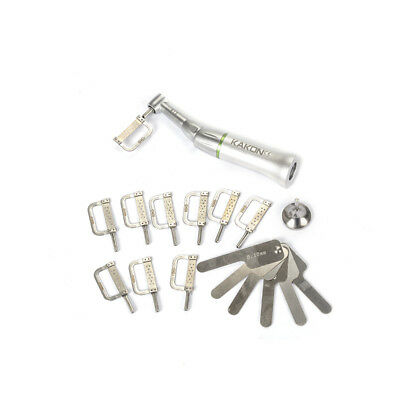 1 Set Dental Contra Angle Handpieces Interproximal with 10 Strips  4:1 Reduction