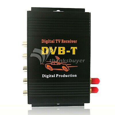 2Antenna Car DVB-T MPEG-4 Digital TV Dual Tuner Receiver TV Box 4Video f Car DVD