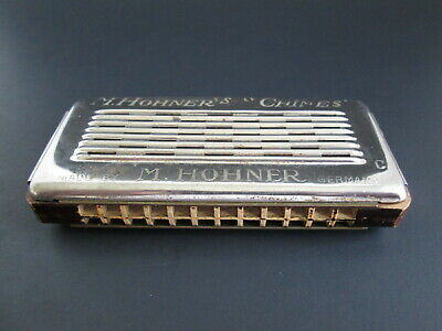 "Antique Chimes Harmonica Made by M. Hohner in Germany ""C"" & ""G"" Keys"