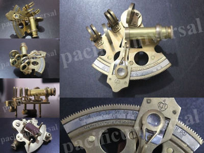 """Nautical Sextant Solid Brass Maritime Replica Vintage equipment Xmas Gift 3"""".."""