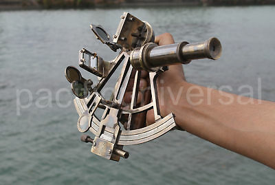 Heavy Brass Nautical Working Sextant Ships Astrolabe Beautiful Xmas Gift 8""