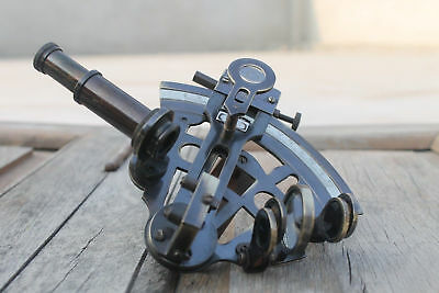 Marine Collectible Nautical Brass Sextant Ship Navigation Handmade Gift.