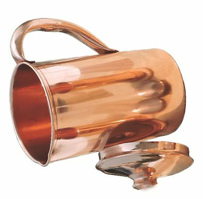 Pure Copper Smooth Water Jug/Copper Pitcher for Ayurveda Health Benefit Gift