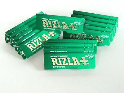 15 packs of rizla green standard regular rolling papers GENUINE RIZLA PRODUCT