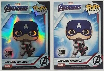 Funko POP EXCLUSIVE Captain America & Foil Holo #450 Avengers Endgame Cards