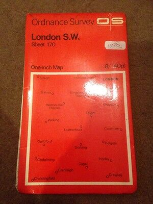 Old Ordnance Survey One-Inch Map Sheet 170