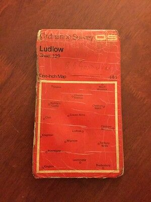 Ludlow Old Ordnance Survey One-Inch Map Sheet 129