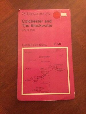 Colchester & The Blackwater Ordnance Survey 1:50 000 First Series Map 168