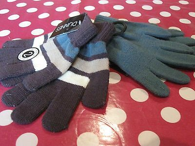 Dunnes 2 Pairs of Boys Magic Stretchy Gloves age 3-6 Years Brand New with Tags