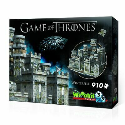 Wrebbit Game of Thrones 3D Jigsaw Puzzle Winterfell Official Gift 910 Pieces
