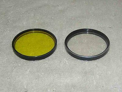 Two light  filter for lenses russian USSR yellow 49x0.5 ultraviolet  49x0.75