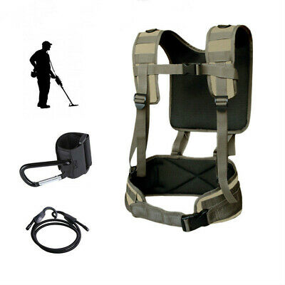 Metal Detector Harness Sling Swing Bungee Support Belt for Underground Detecting
