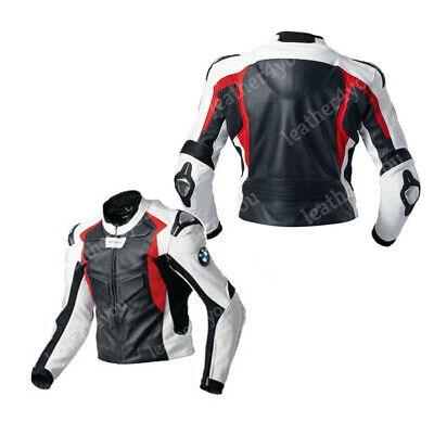 BMW Racing Biker Leather Jacket Mens Motorbike/Motorcycle Leather Jackets