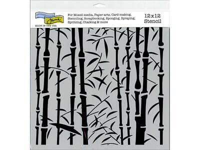 CRAFTER S WORKSHOP THE TCW469  THE CRAFTERS WORKSHOP STENCIL 12X12 BRUSH ALPHA