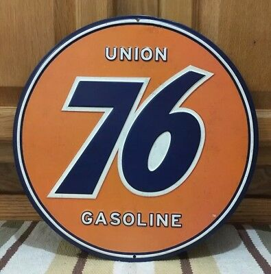 76 Union Gasoline Metal Sign Gas Oil Station Garage Car Truck Auto Advertising