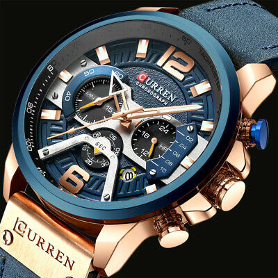 Luxury Men's Wrist Watch CHRONO Date Quartz Analog Army Military Sport Aviator