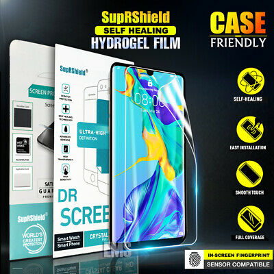 SupRShield Huawei P30 Pro P30 Lite HYDROGEL AQUA Full Coverage Screen Protector