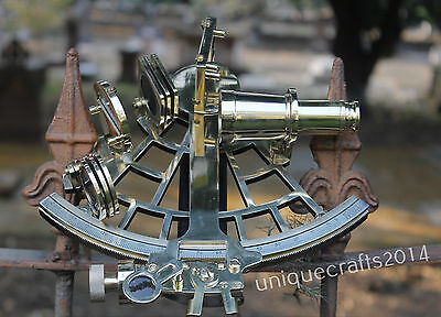 Solid Brass Working Sextant Astrolabe Vintage Ship Navigational Gift.
