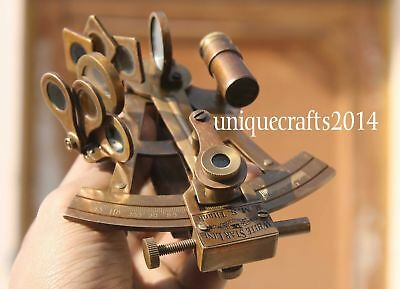 "4"" Handmade Vintage Marine Solid Brass Sextant Ship Astrolabe Replica Gift Item."