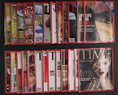 Time Magazine x 25 Issues Year 2006 Vintage News Current Affairs Life Politics